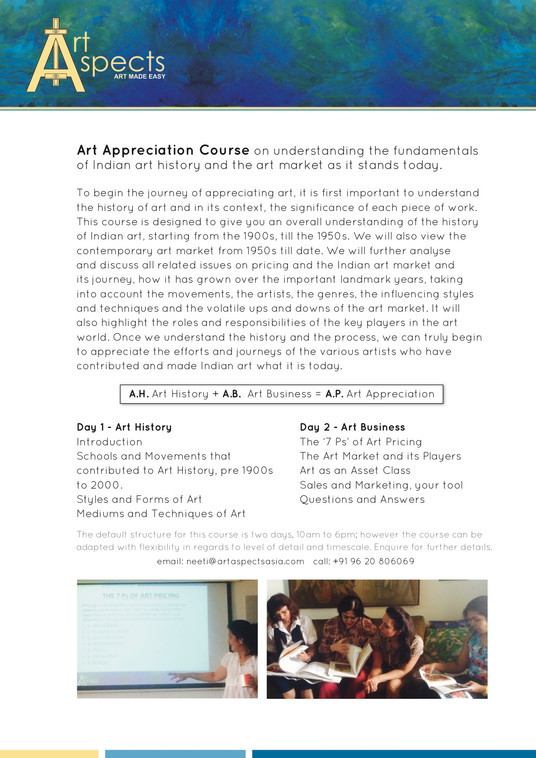 Art Aspects Asia Course Overview