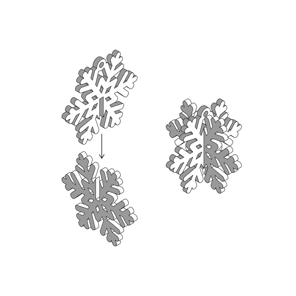 Acrylic Snowflake Instructions