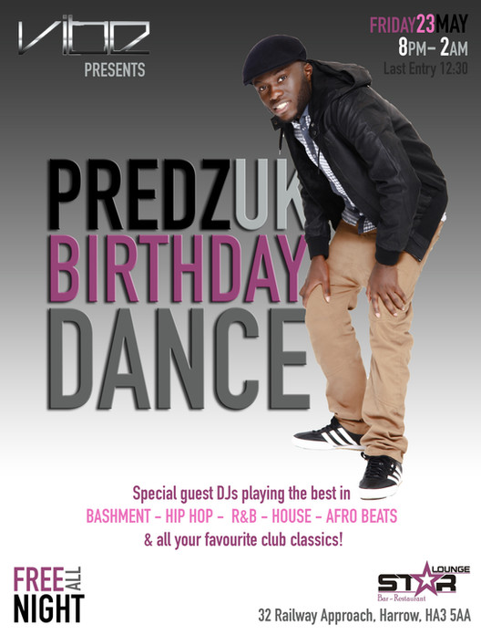 Preds Birthday Dance E-Flyer