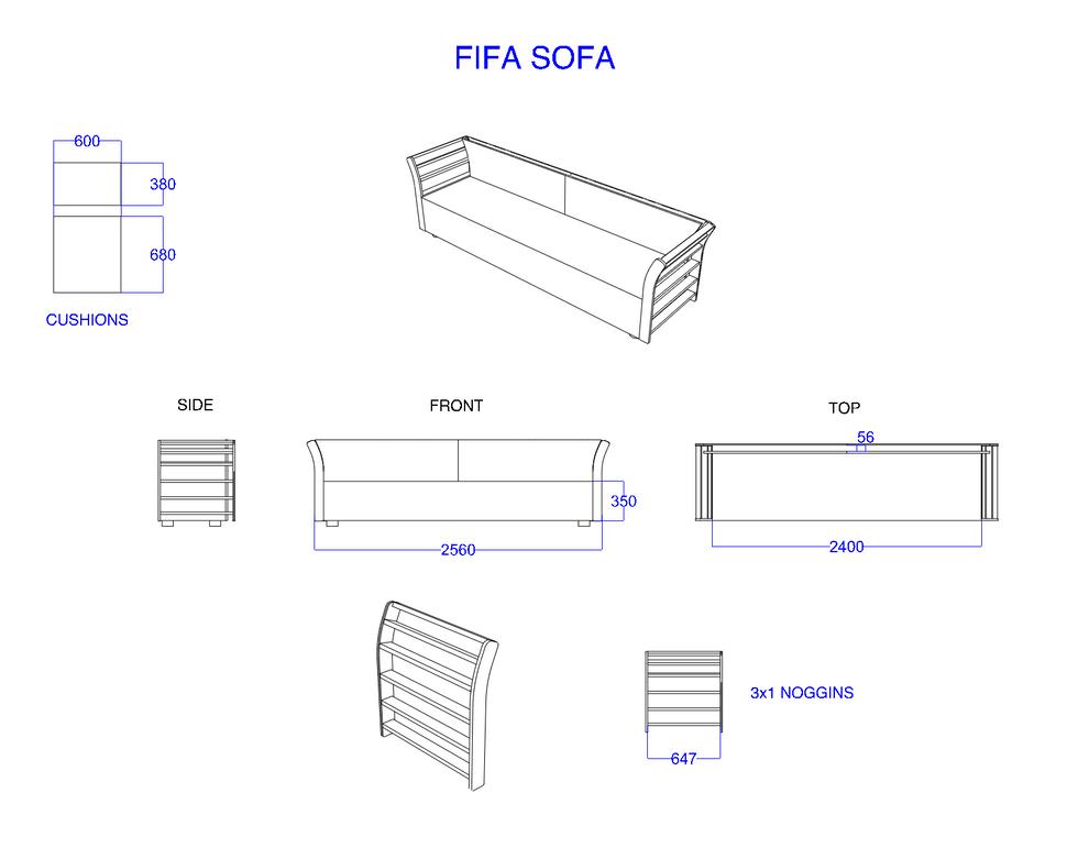 Amazon-Twitch Event - FIFA Sofa