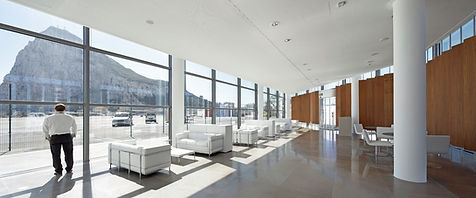 Gibraltar Airport interiors bblur architecture
