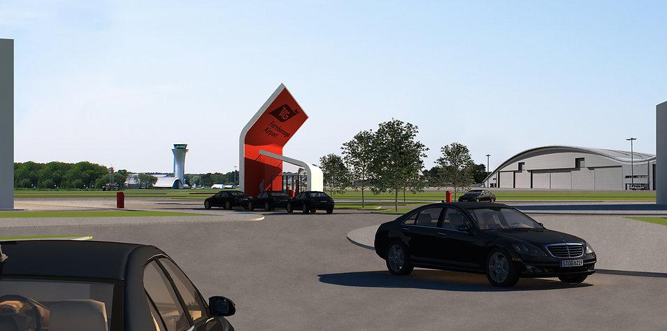 TAG Farnborough Airport Entrance Gate