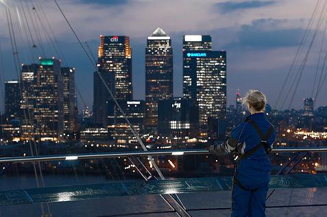 Up at the O2 Roofwalk, London