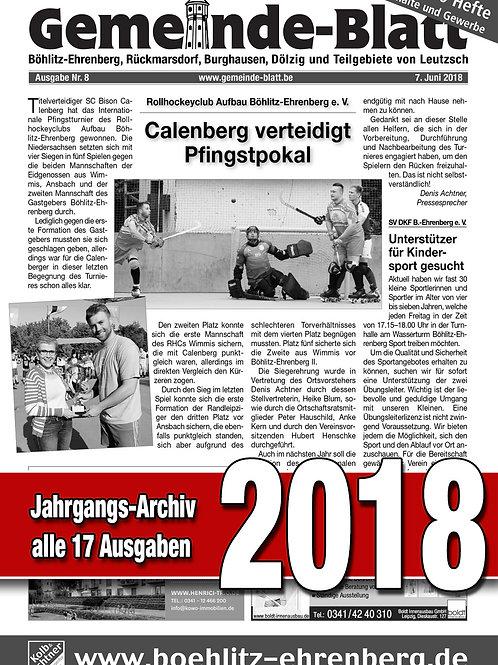 Gemeinde-Blatt Jahrgangs-Archiv 2018