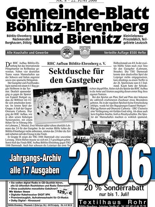Gemeinde-Blatt Jahrgangs-Archiv 2006