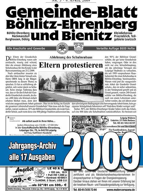 Gemeinde-Blatt Jahrgangs-Archiv 2009