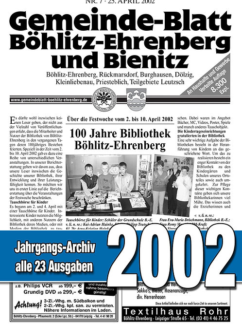 Gemeinde-Blatt Jahrgangs-Archiv 2002