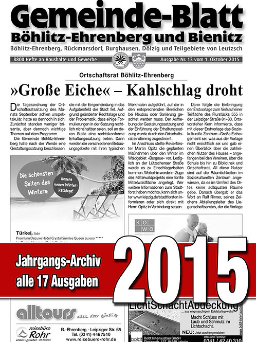 Gemeinde-Blatt Jahrgangs-Archiv 2015