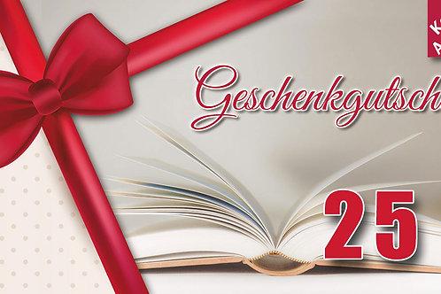 Geschenk-Gutschein – Wert 25 €