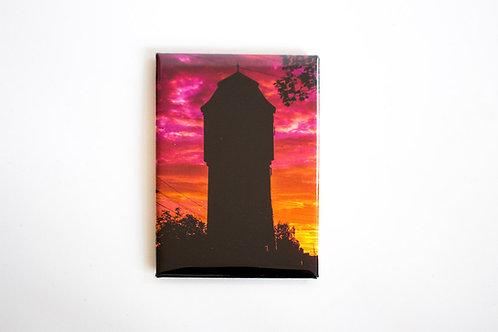 "Kühlschrankmagnet ""Wasserturm-Sonnenaufgang"""