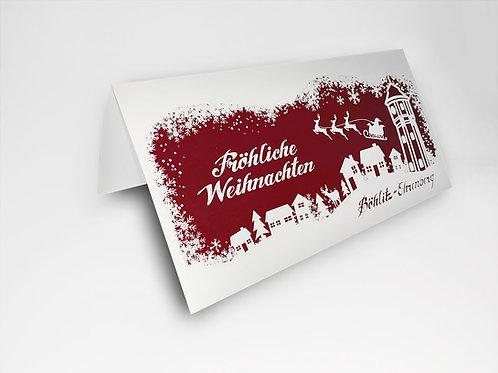 Weihnachtskarte Böhlitz-Ehrenberg