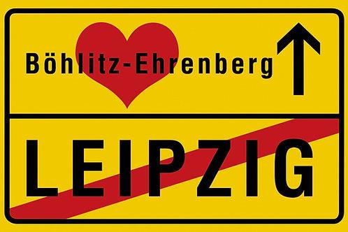 "Kühlschrankmagnet ""Ortsausgangsschild Leipzig – Böhlitz-Ehrenberg"""