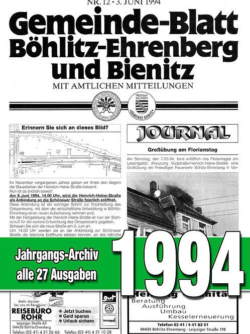 Gemeinde-Blatt Jahrgangs-Archiv 1994