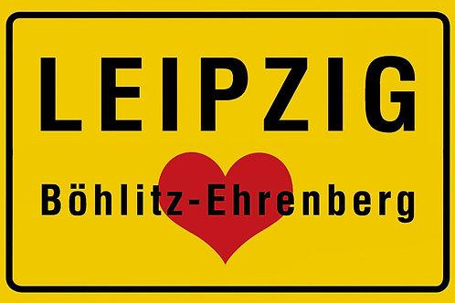 "Kühlschrankmagnet ""Ortseingangsschild Leipzig – Böhlitz-Ehrenberg"""