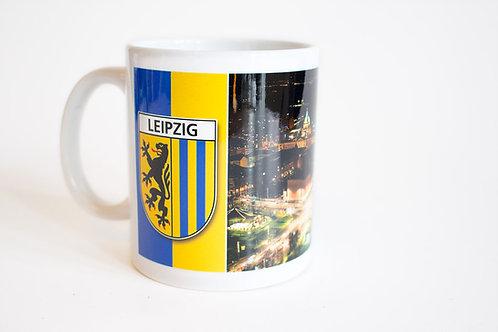 "Tasse ""Leipzig-Panorama bei Nacht"""