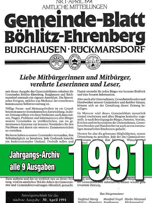 Gemeinde-Blatt Jahrgangs-Archiv 1991
