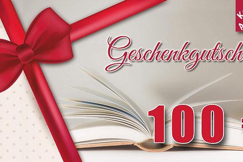 Geschenk-Gutschein – Wert 100 €