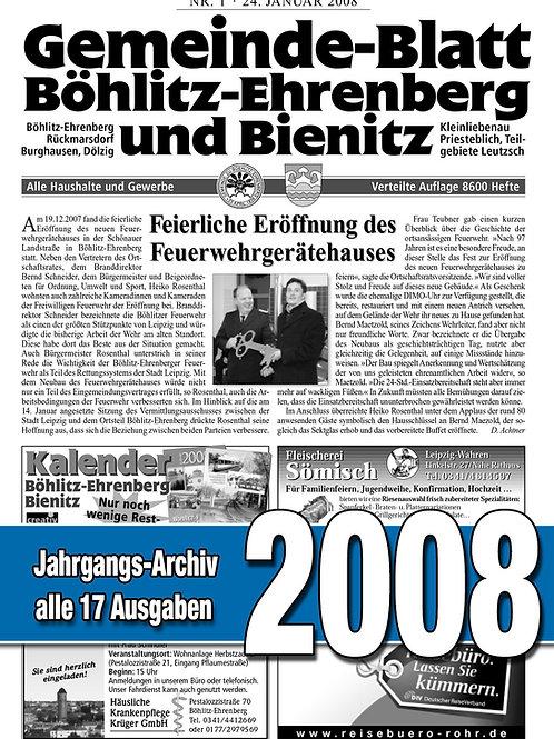 Gemeinde-Blatt Jahrgangs-Archiv 2008