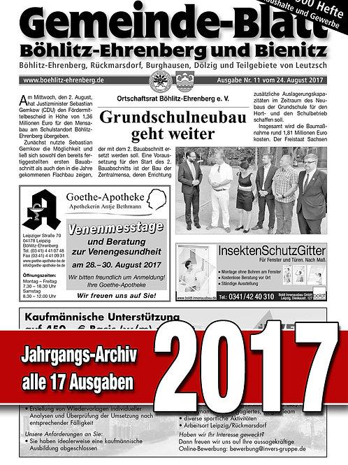 Gemeinde-Blatt Jahrgangs-Archiv 2017