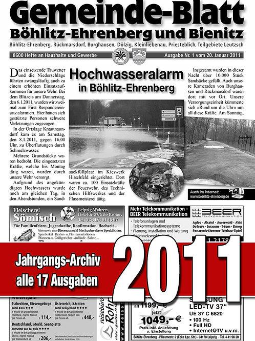 Gemeinde-Blatt Jahrgangs-Archiv 2011