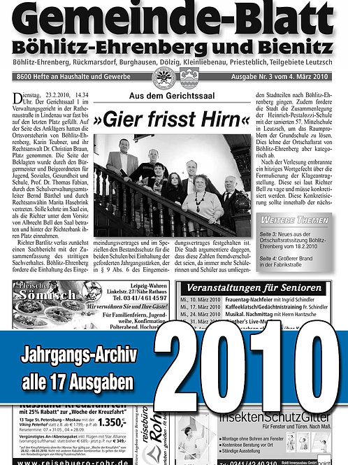 Gemeinde-Blatt Jahrgangs-Archiv 2010