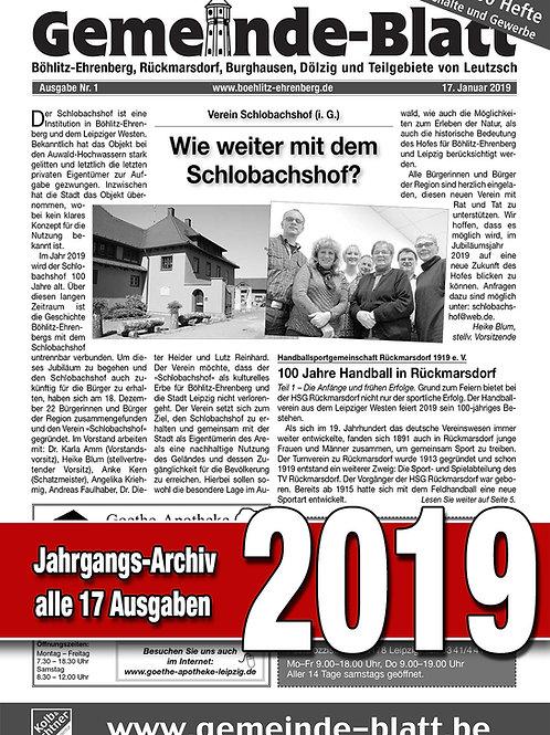 Gemeinde-Blatt Jahrgangs-Archiv 2019