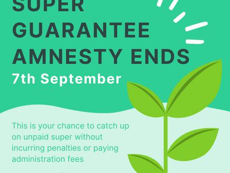 Super Guarantee Amnesty ends soon!