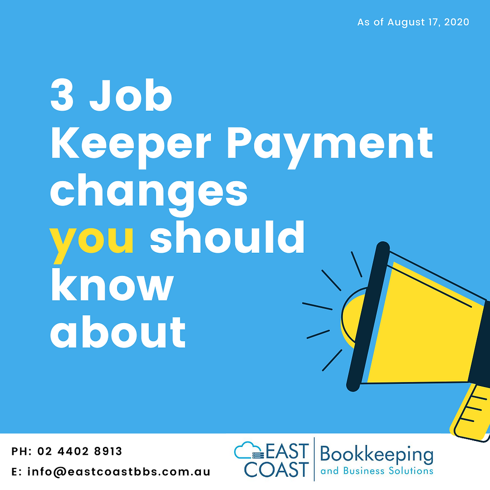 Help with Bookkeeping and accounting in Nowra. The latest Jobkeeper subsidy changes explained. Help with Xero accounting software