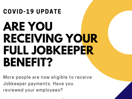 Are you receiving your full job keeper benefit?