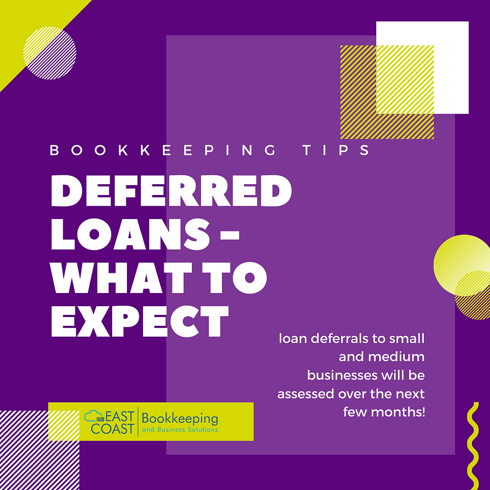 What to expect of you have deferred a loan. East Coast Bookkeeping