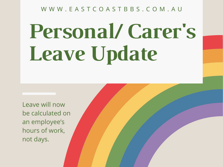 Update to Personal / Carer's Leave
