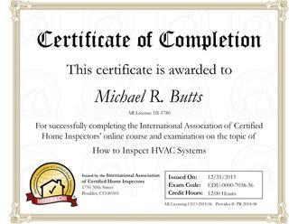 New HVAC Certification