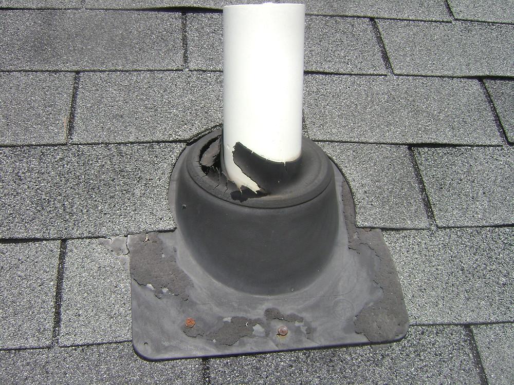 Damaged Plumbing Vent Boot