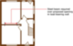 Steel beam required over proposed opening in load bearing wall