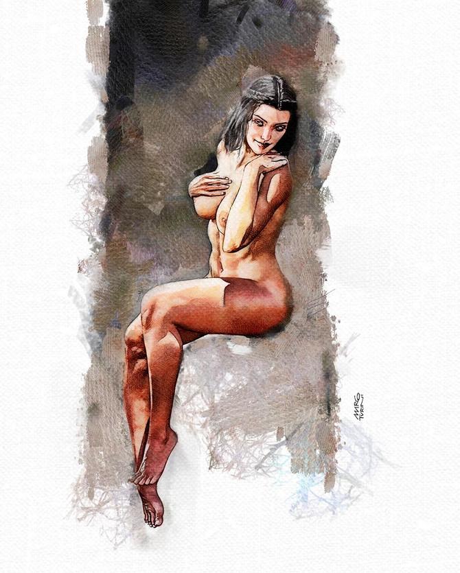 Sitting Girl, anatomy study