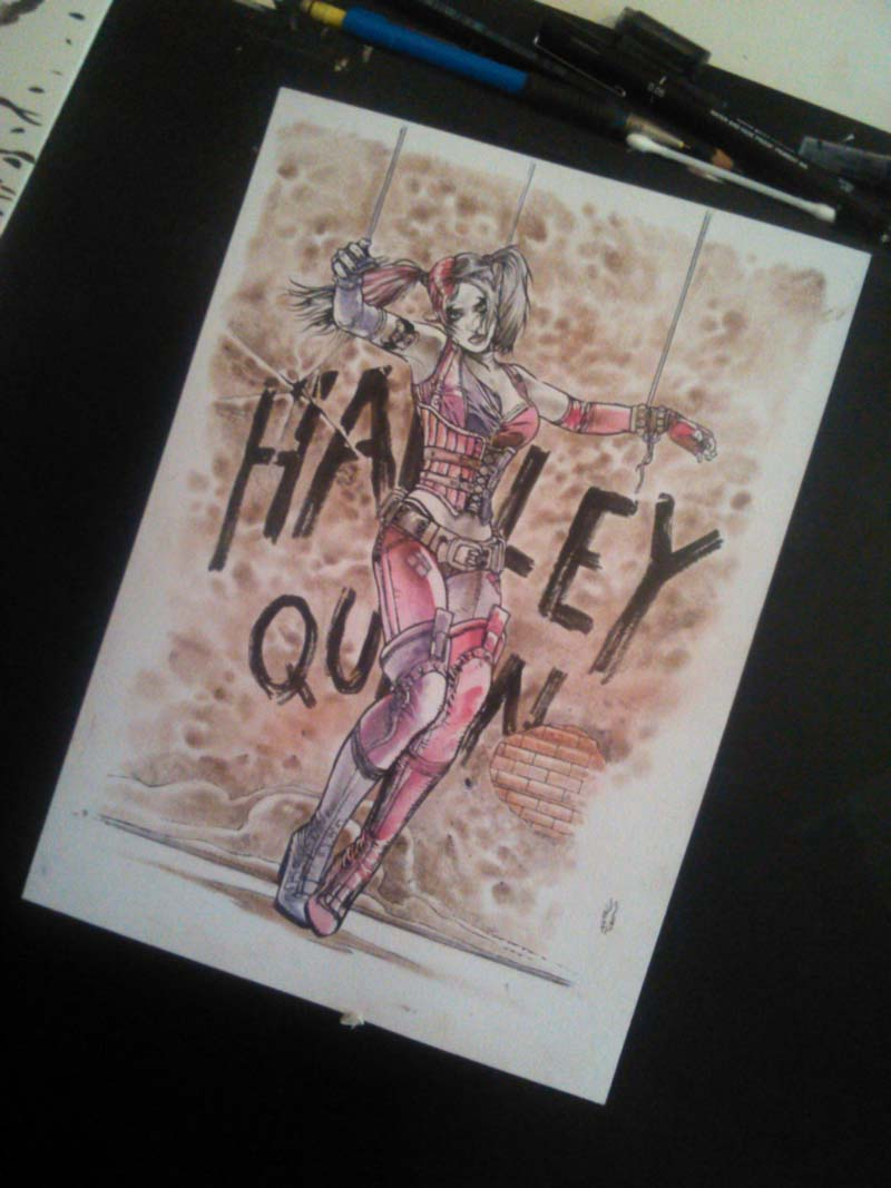 Harley Quinn colored