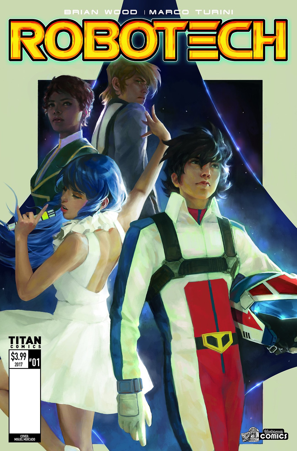 ROBOTECH #1  Writer: Brian Wood  Artist: Marco Turini  FC • 32pp • $3.99 • On Sale July 26, 2017