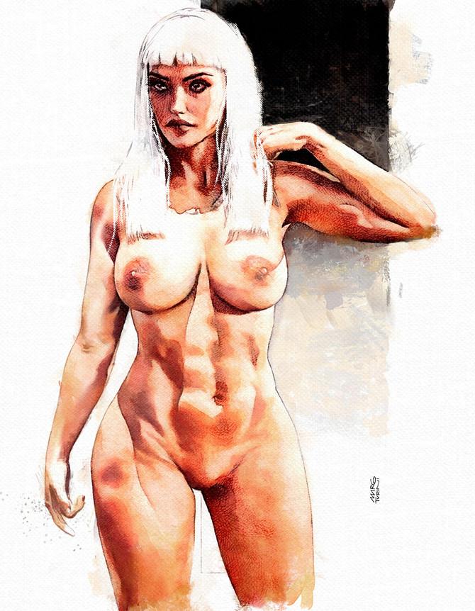 Girl nude Art Study