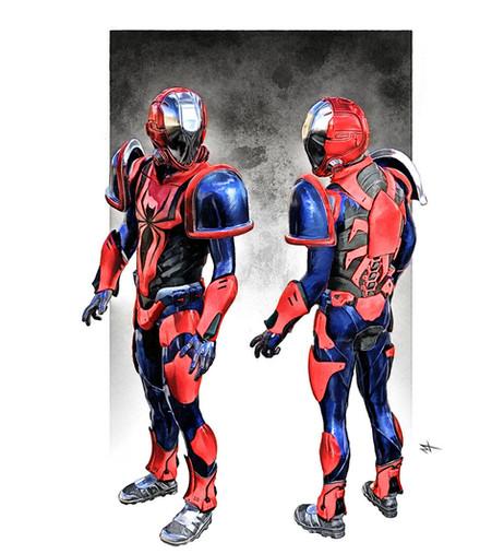 SpiderMan Uniform SciFi  Concept
