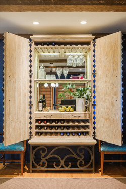 Colorful Spanish Style Wine Cabinet