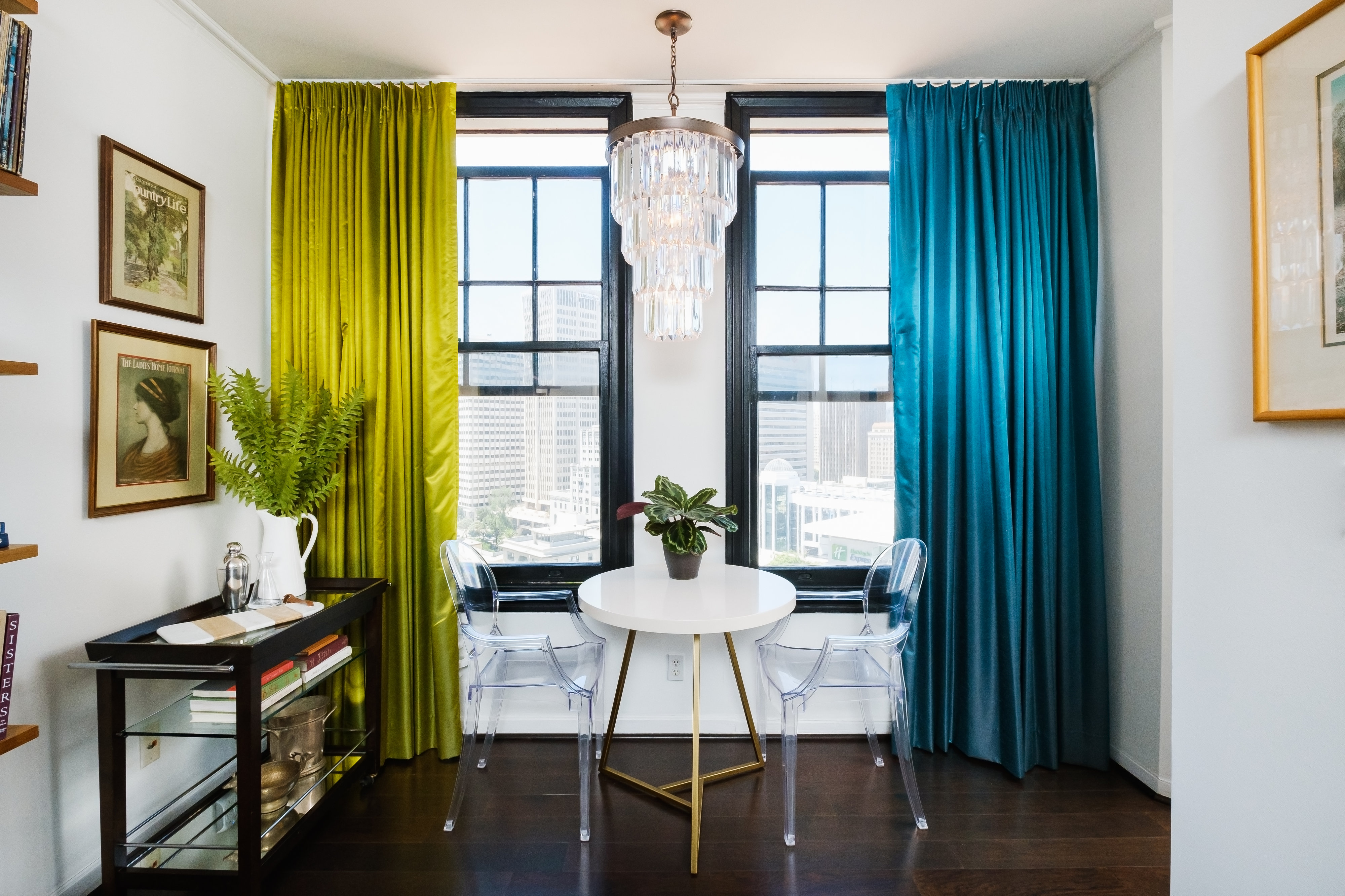 Colorful Small Condo Dining Room