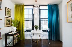 Colorful Small Condo Dining Room