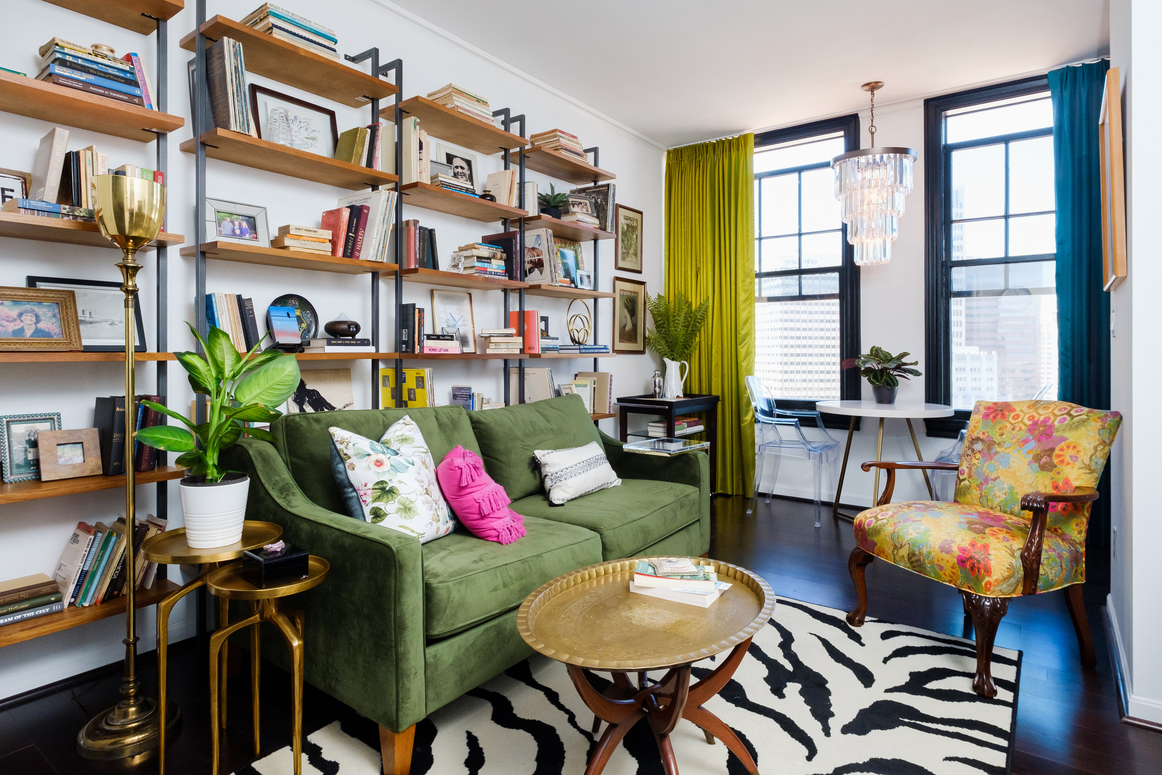 Colorful Small Condo Living Room