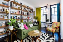 Colorful Small Condo Living Room