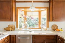 Warm Craftsman Style Kitchen Sink