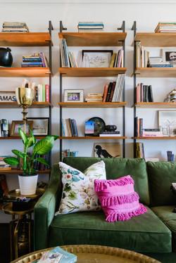 Colorful Condo Green Sofa