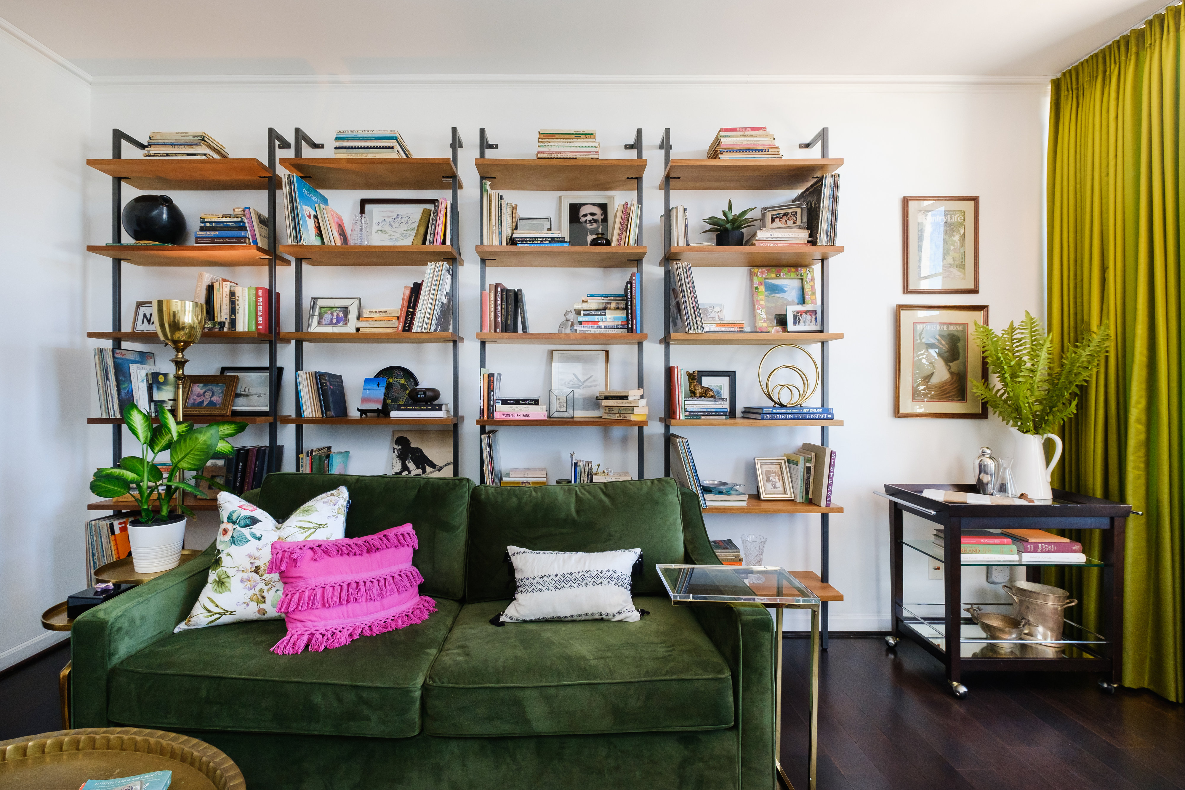 Colorful Condo Storage