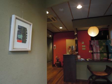 城崎温泉のお宿に作品展示中♫