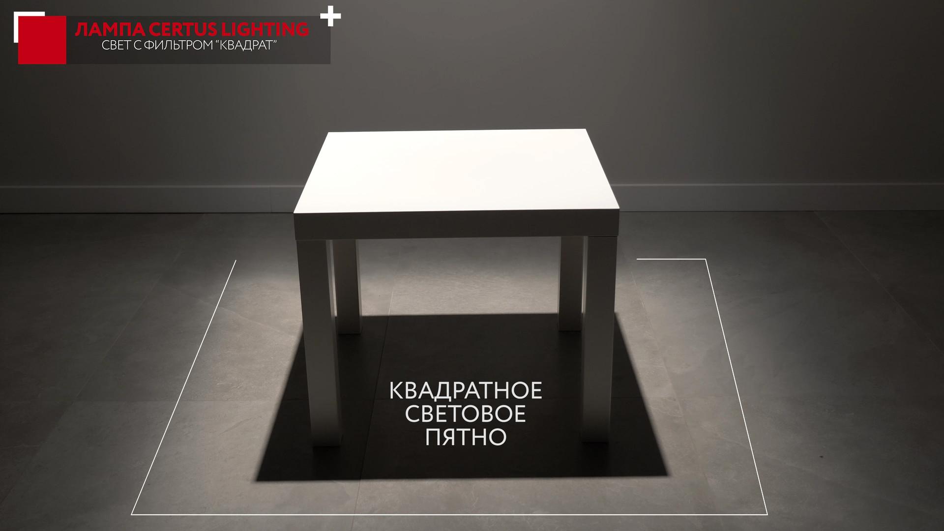 Освещение квадратного столика