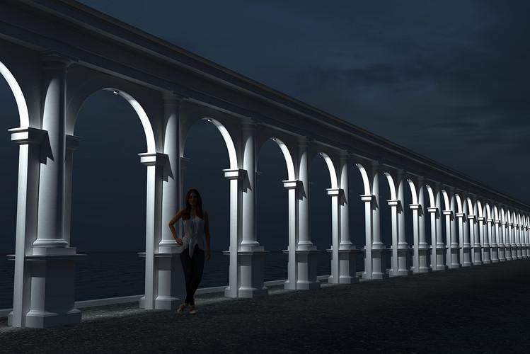 Освещение декоративной арки наружными светильниками CERTUS Lighting